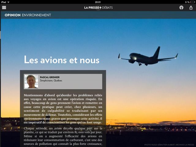La Presse+ Pascal Grenier