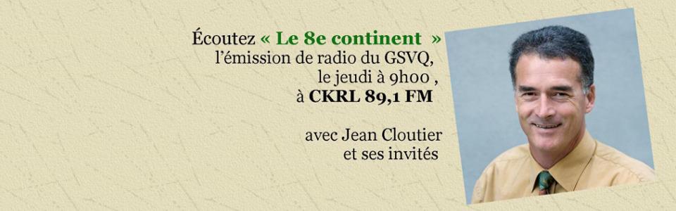 Émission de radio le 8e continent