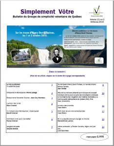 Bulletin Simplement Vôtre -automne2016