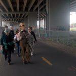 En marche sur la piste cyclable